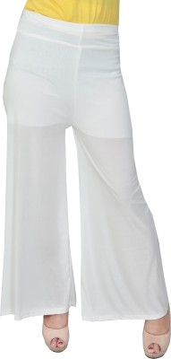 Nifty Regular Fit Women's White Trousers