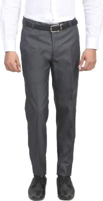 ManQ Slim Fit Men's Grey Trousers