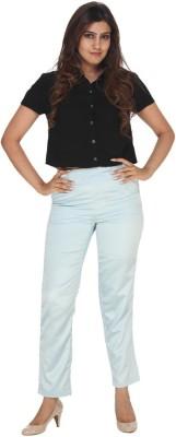 Fast n Fashion Regular Fit Women's Light Blue Trousers