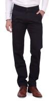 Dad Regular Fit Mens Black Trousers
