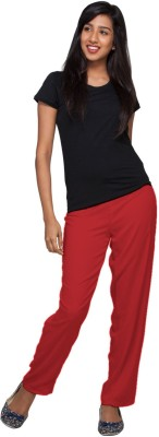 Go Colors Regular Fit Women's Red Trousers