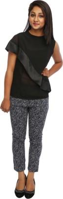 Tryfa Regular Fit Women's Grey Trousers