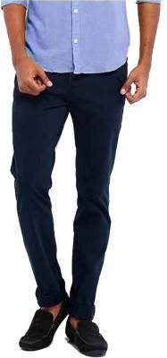Good Karma Slim Fit Men's Blue Trousers