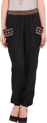 Nvl Regular Fit Women's Black Trousers
