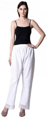 NumBrave Regular Fit Women's White Trousers