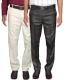 Routeen Slim Fit Men's Multicolor Trouse...