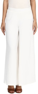 Edge Plus Regular Fit Women's White Trousers