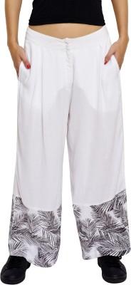 JALEBE Regular Fit Women's White Trousers