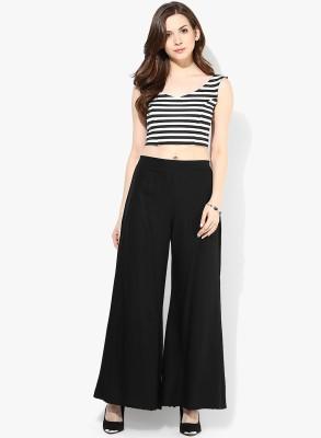 BanTiw Regular Fit Women's Black Trousers