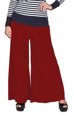 Jugniji Slim Fit Women's Red Trousers