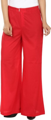 Ur Sense Regular Fit Women's Red Trousers