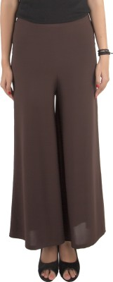 Vostro Moda Regular Fit Women's Brown Trousers