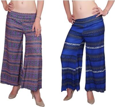 DAMEN MODE Regular Fit Women's Dark Blue, Blue Trousers