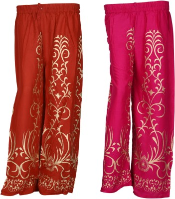 SAANKHYA Regular Fit Women's Red, Pink Trousers