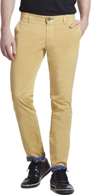 Specimen Slim Fit Men's Yellow Trousers