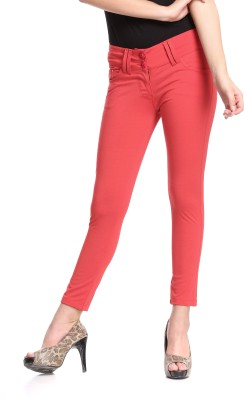 Westwood Skinny Fit Women's Red Trousers