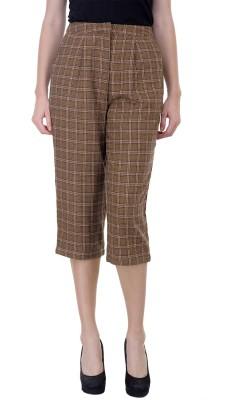 Oxolloxo Regular Fit Women's Multicolor Trousers at flipkart