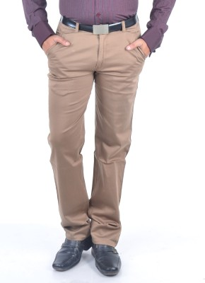 Rapid Regular Fit Men's Brown Trousers