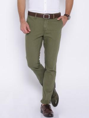 Harvard Slim Fit Men,s Green Trousers