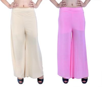 Ajaero Regular Fit Women's Gold, Pink Trousers