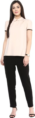 Rare Regular Fit Women's Black Trousers at flipkart