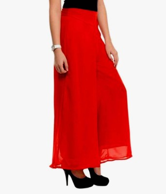 Fashion Arcade Regular Fit Women's Red Trousers