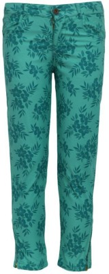 Bells and Whistles Regular Fit Girl's Green Trousers