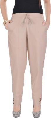 Poopii Regular Fit Women's Beige Trousers