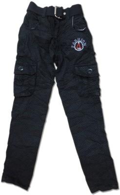 Vio Regular Fit Boy's Black Trousers
