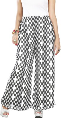 Twinkal Regular Fit, Slim Fit Women's Black, White Trousers