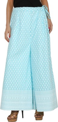 Pink n Lime Regular Fit Women's Blue Trousers