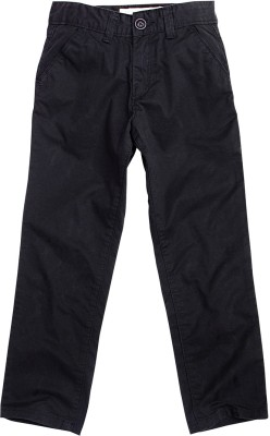 Super Young Regular Fit Boy's Black Trousers