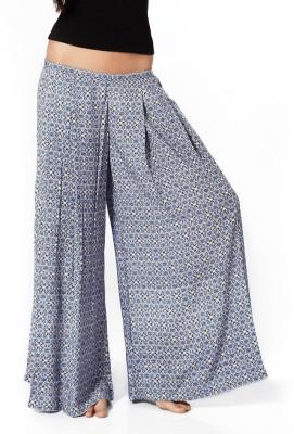 Mystere Paris Regular Fit Women's Blue Trousers
