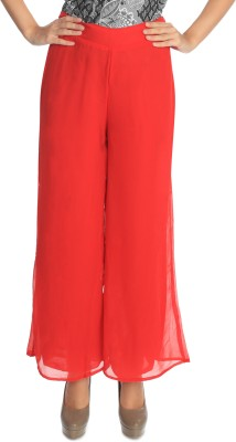Flora Regular Fit Women's Red Trousers