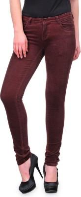 Fashion Cult Slim Fit Women,s Maroon Trousers