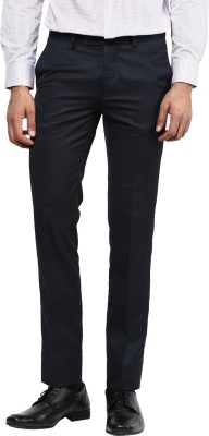 London Bridge Slim Fit Men's Blue Trousers