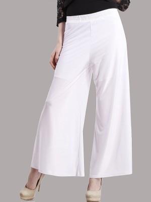 Peptrends Regular Fit Women's White Trousers