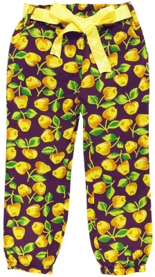 Oye Regular Fit Girl's Yellow Trousers