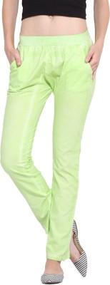 Porsorte Regular Fit Women's Green Trousers