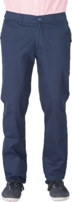 AUSSUM Regular Fit Men's Blue Trousers