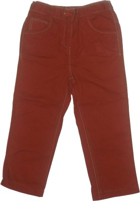 Red Rose Slim Fit Baby Boy's Brown Trousers