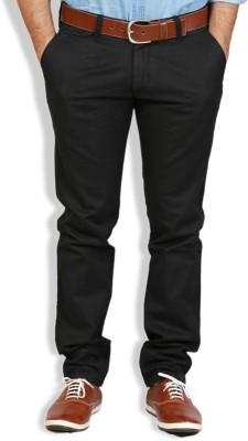 Goswhit Slim Fit Men's Black Trousers