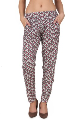 One Femme Slim Fit Women's Multicolor Trousers