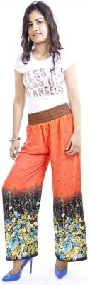 Cotton Flake Regular Fit Women's Orange Trousers