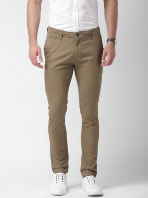 Mast & Harbour Skinny Fit Men's Brown Trousers