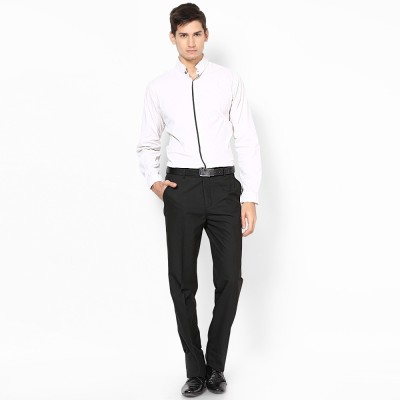 London Bridge Slim Fit Men's Black Trousers
