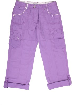 Coffee Bean Regular Fit Girl's Purple Trousers