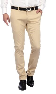 FRANK JEFFERSON Skinny Fit Men's Brown Trousers