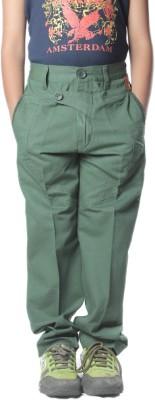 SETVEL Slim Fit Boy's Green Trousers