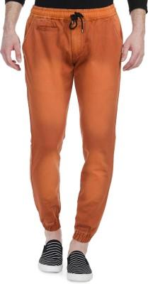 Blimey Slim Fit Men's Orange Trousers